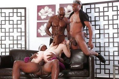 Pervy interracial groupie with amazing Ariel Stonem