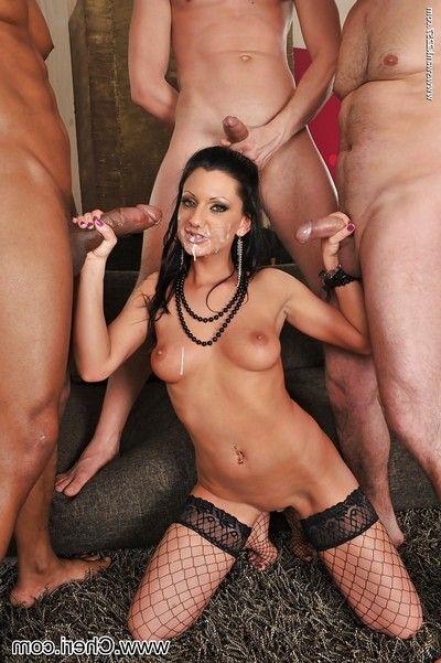 Interracial pornstar orgy with insatiable bitch Destiny Deville