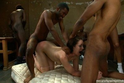 Untamed darling benefits from fixed firmly up, punished and dug by group of males