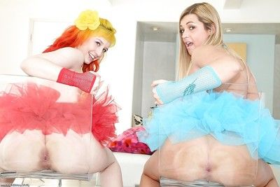 Elegant dykes Proxy Paige and Jenna Ashley let their massive milk sacks loose