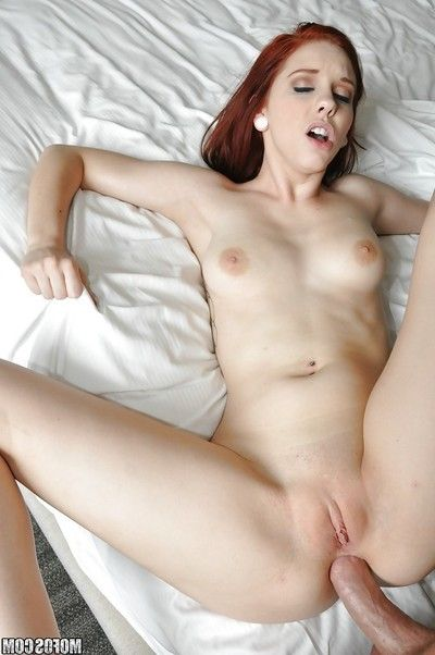 Redhead Ginger Maxx lovely hardcore anal and vaginal love making act from enormous phallus