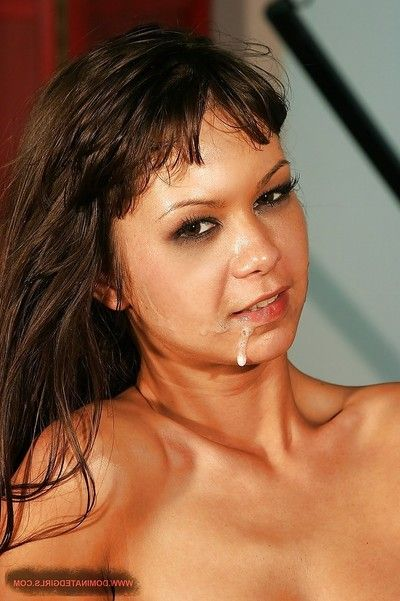 Blindfolded MILF hotty Angelina Crow benefits from toyed and owned in the waste