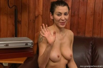 Biggest tittied brown hair submits to dvp, dap and 3 penetration!