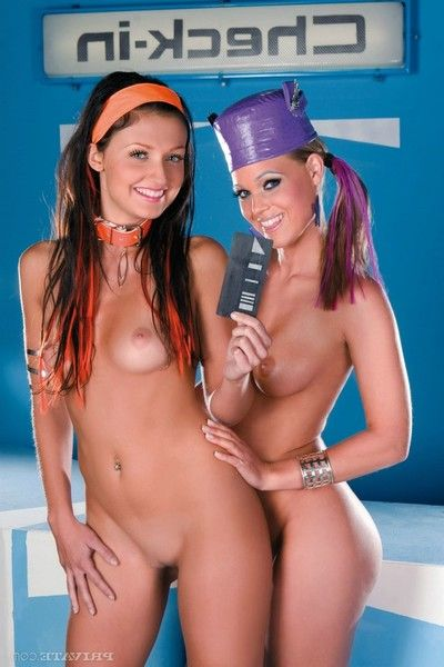 Dolls aletta alien and trisha brill drills in sexth element