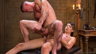 Dominatrix venus lux uses her intense weenie to control military boy!