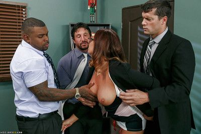 Nerdy MILF Tory Lane pleasant grubby ass-drilling from massive white and swarthy rods