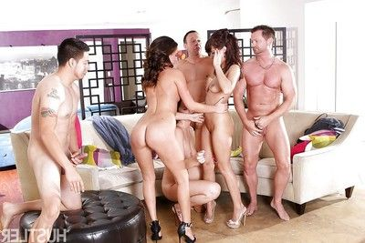 Euro pornstars with sensible booties oral sex weenie and eat love-cage in hawt groupsex