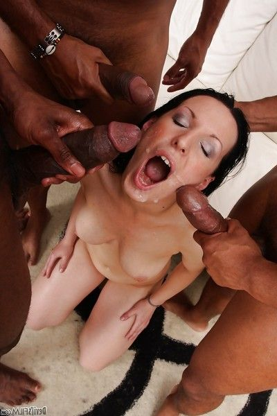 Terrific milf Maya B is being interracially fucked in her anal
