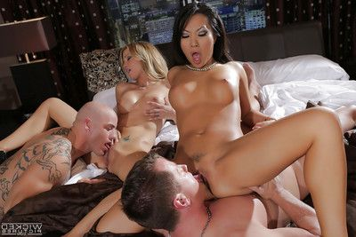 Asa Akira and Jessica Drake are very with this long-dicked guy