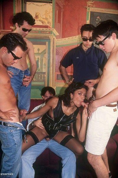 Intimate gangbanging for pornstar tabatha ready money in vintage porn pi