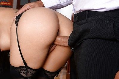 Appealing secretary Julia D Lucia giving fellatio despite the fact getting penetrated
