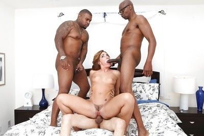 Interracial group sex leaves Savannah Fox grateful and ball cream roofed
