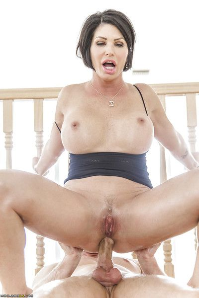Lalin girl cougar Shay Fox has her vast waste oiled up for wazoo drilling