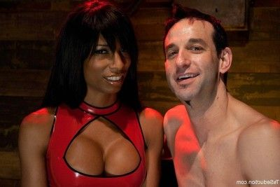 Transexual domination of a single white dude