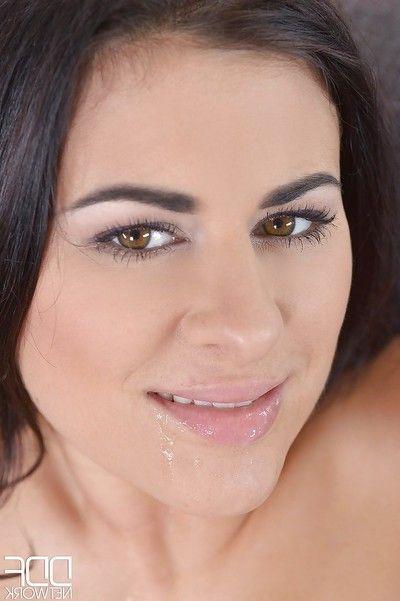 Moist European MILF Billie Star getting her anus screwed by 2 severe dongs