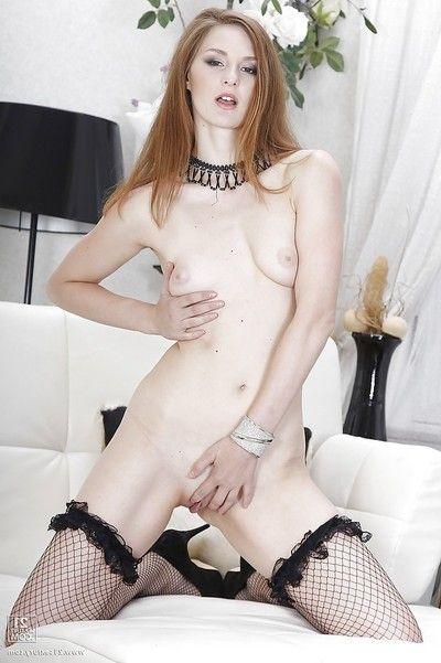 Irina Pavlova demonstrates her complete booty in ebon