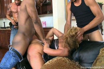 Rich milf taken down and group-fucked