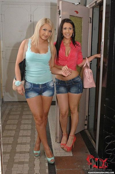 Infant European MILFs Lana & Samia Duarte delightsome anal-fucking in triple brand copulation