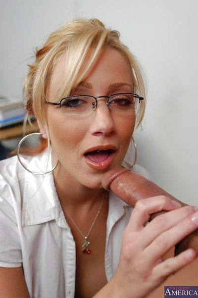 Lusty mentor has some cunnilingus and anal pounding liking with her student