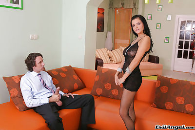Spectacular girl Candy Alexa trying out unfathomable assfucking with her lover