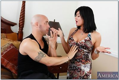 Brown hair wife Tory Lane revealing hooters and getting taut butt penetrated