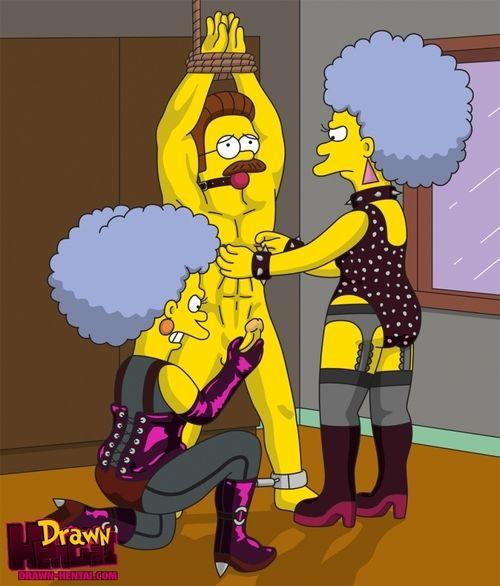Simpsons - Patty and Selma Bouvier rape Ned Flanders