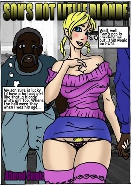 Son's Hot Little Blonde- Illustrated interracial