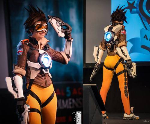 [Incosplay] Widowmaker and Tracer (Overwatch)