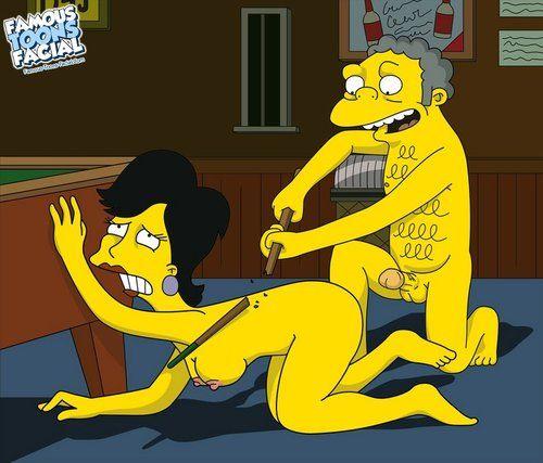 Simpsons - Moe fucks blonde woman elbow the bar