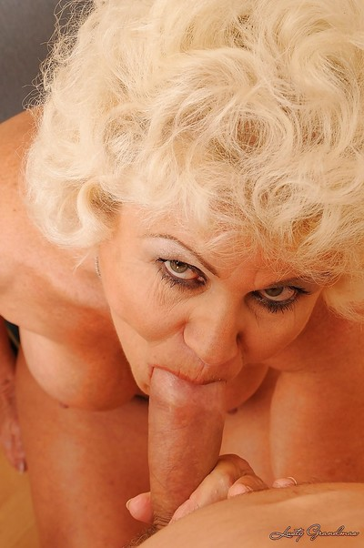 Forlorn granny at hand chubby titties gets their way soft twat drilled hard by a chubby weasel words