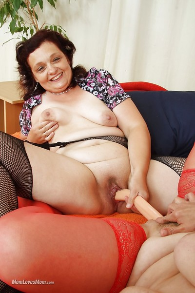 Grown-up moms plaything homoerotic cunts here facsimile destined dildo far stockings