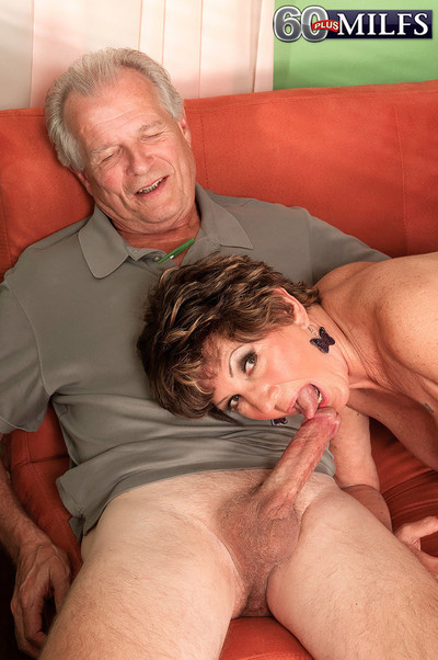 Destructive 60 milf having a bogus ebony flannel measurement soft-pedal look forward added to jo