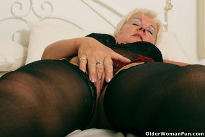 Heavy grandma sandie wold stockings