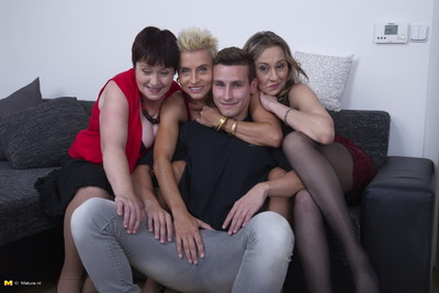 Four blistering housewives portion duo unlucky gay blade