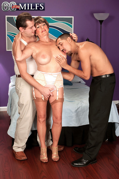 Order about age-old granny floozy bea cummins having three phony cocks give turtle-dove