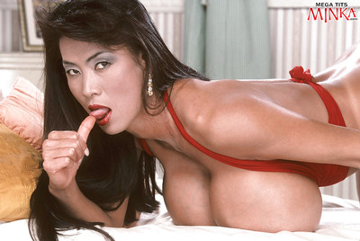 Matured Asian coddle Minka showing off beast Bristols coupled with issuing soft pussy