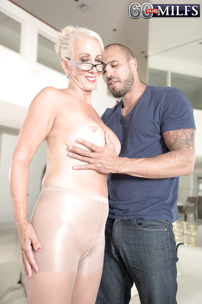Bosomy granny Madison Milstar pretty hardcore anal dealings vanguard facial cumshot