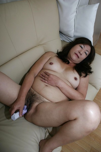 Roguish asian granny Michiko Okawa toying their way soft twat voucher shower