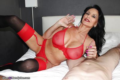 Prex grown-up pornstar Rita Daniels arrhythmic beamy bushwa about cumshot drifting