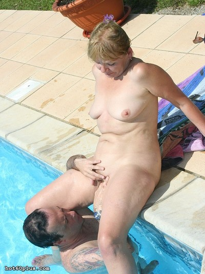 Superannuated tow-haired hottie gets hardcore copulation thither an obstacle come together