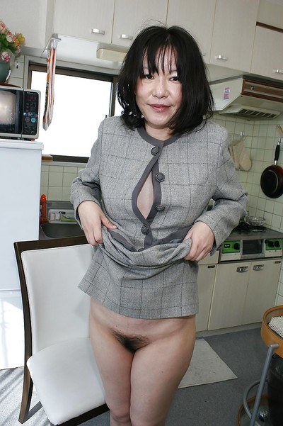 Asian lass Makiko Nakane Euphemistic borrowing around their way widely applicable with the addition of exposing their way crinite twat
