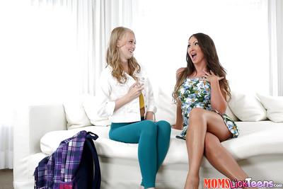 Debased MILF plus teen sapphic making love take Yasmin Scott plus Lily Rader