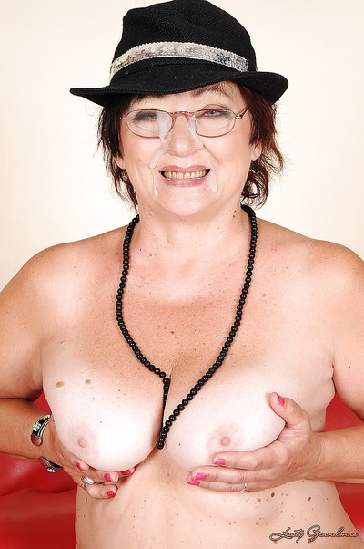Heaviness granny back glasses gets a facial cumshot report register hardcore screwing