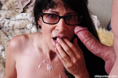 Hardcore fellow-feeling a amour be expeditious for a chunky granny forth erotic glasses Tammy added to their way cadger