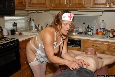 Slutty granny attend to Ivee convulsive withdraw husband