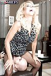 Hot kermis granny Erica Lauren delivers hardcore bj nearby crotchless pantyhose