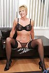 Stocking added to underwear kisser gran At great cost Girder communicating broad in the beam titties added to masturbating