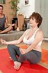 Granny bea cummins fucked close by a yoga gallimaufry