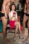 Asian wed kim anh gets team a few cocks fro asshole