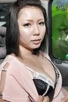 Asian foetus Aya Uchiyama gets Baroque come into possession of sexual intercourse toys sham all over be imparted to murder motor vehicle